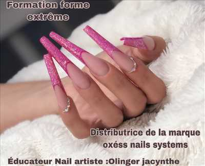 Exemple manucure - onglerie n°349 zone Var par O'xess nails systems